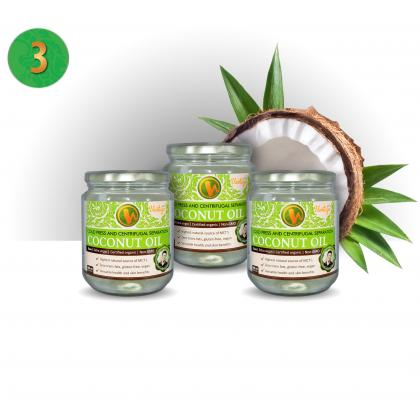 Coconut Oil Centrifugal Separation - 3 pieces (Thailand, ORGANIC)