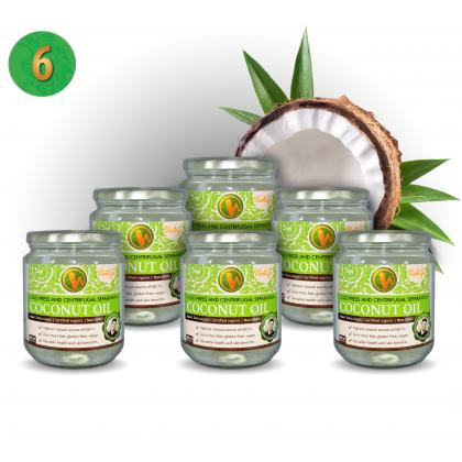 Coconut Oil Centrifugal Separation - 6 pieces (Thailand, ORGANIC)